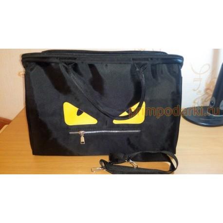 """Вместительная сумка """"Монстр с желтыми глазами"""""""