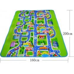 Развивающий коврик Дорога для мальчиков новый большой 160*200 см